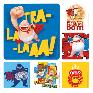 Captian Underpants Stickers