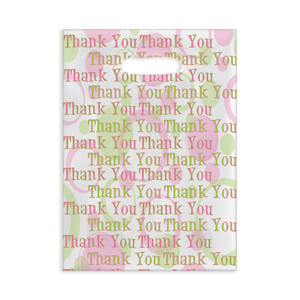 Pink/Green Scatter Bag Thank You