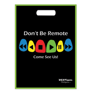 Dentoons Don't Be Remote Full Color Bag