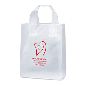 Clear Custom Frosted Shopping Bag