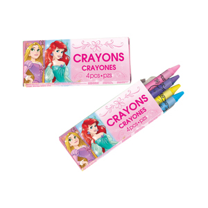 Princess 4 Pack Crayons