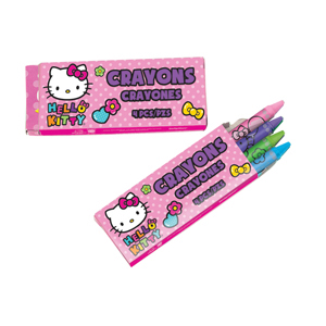Hello Kitty 4 Pack Crayons
