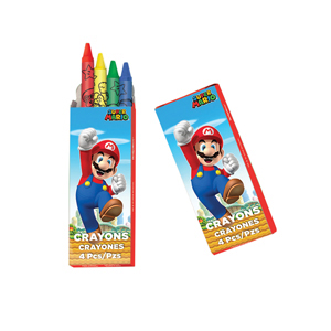 Super Mario 4 Pack Crayons