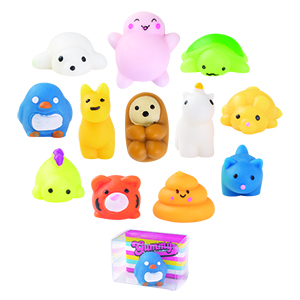 "1.5"" Squeeze Mochi Animal Assortment"