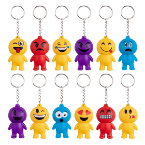 "2 1/2"" Emoticon Keychain Assortment"