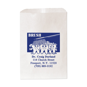 "7 & 1/2"" x 10 & 1/2 "" Large Paper Bag-1 Color Imprint"