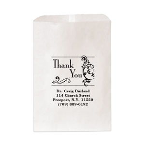 "6 & 1/4"" x 9 & 1/4"" Medium Paper Bag-One Color Imprint"