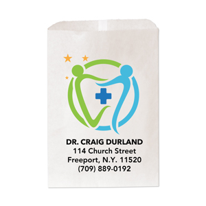 "6 & 1/4"" x 9 & 1/4""Medium Paper Bag-Full Color Imprint"