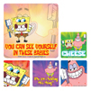 Sponge Bob Squarepants With Toothbrush Stickers