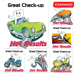 Hot Results Stickers (100)