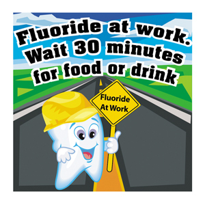 Fluoride at Work Stickers