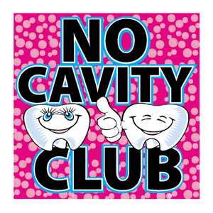 No Cavity Club Stickers