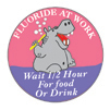 Fluoride at Work Hippo Stickers