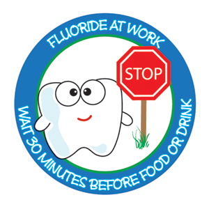Stop Fluoride at Work Stickers