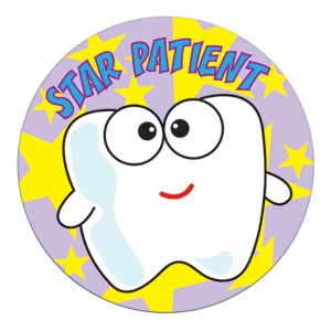 Star Patient Tooth Stickers