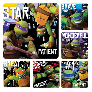 Teenage Mutant Ninja Turtles Patient Stickers
