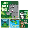 I Got a Shot Medical Patient Stickers