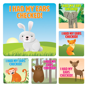 Ears Checked Stickers (100)