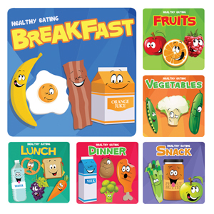 Healthy Eating Stickers