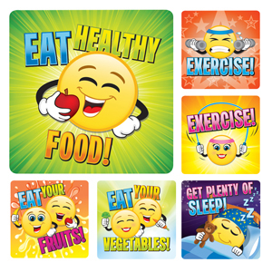 Healthy Emoticon Stickers (100)