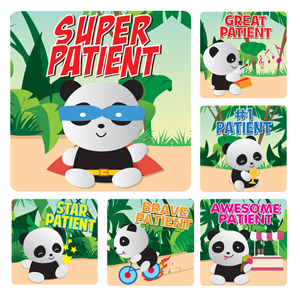Panda Patient Stickers (100)