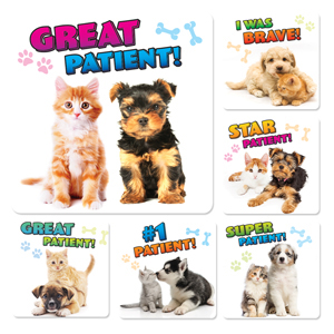 Puppy & Kitten Patient Stickers (100)