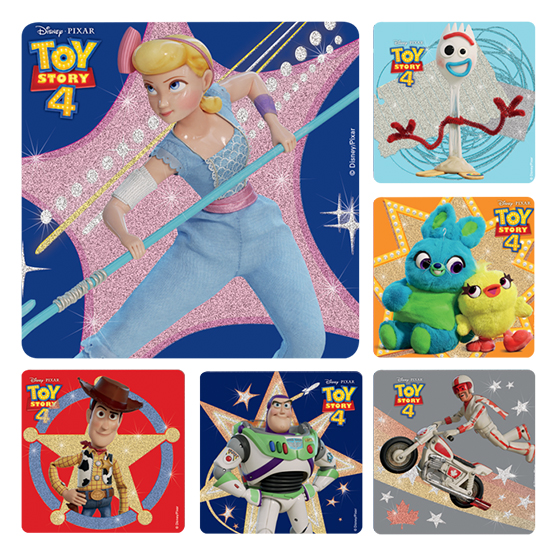 Toy Story 4 Glitter Stickers