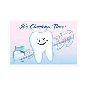 Tooth/ Brush/ Floss Postcard