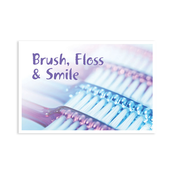 Brush Floss Smile 4-Up