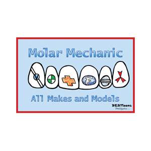 Molar Mechanic Postcard