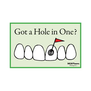 Hole in One Postcard