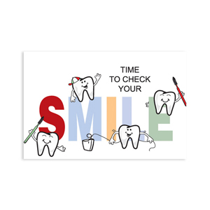 Time To Smile Postcard