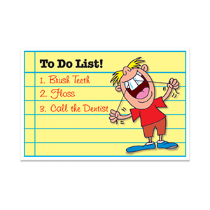 TO DO LIST POSTCARD