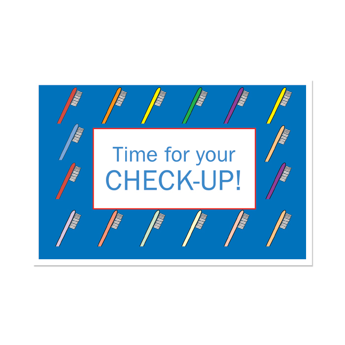 time for a check up postcard 4 up