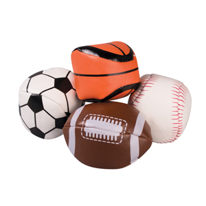 "3"" Sports Kick Bags Assorted"