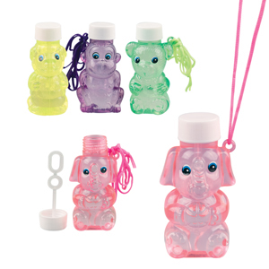 "2.5"" Animal Bubbles Necklace Assorted"