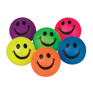 55mm Smiley Face Comet Ball Assorted Colors