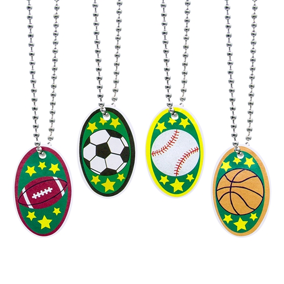 "1.25"" Sport Design Necklace Assorted"