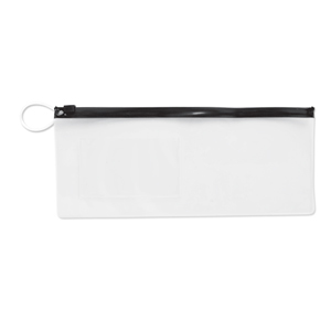 "10"" Vinyl Pouch- Black Zipper"