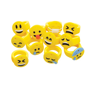 Emoticon Silicone Rings