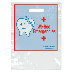 Dentoons We See Emergencies Two Color Bag - Small