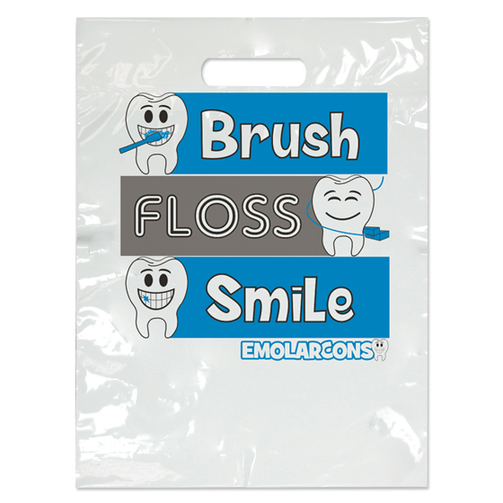 Emolarcon Brush Floss Smile Two Color Bag - Small