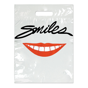 Imprinted Small Smiles Red Lips Bags