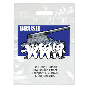 Imprinted Large Teeth Brush Bags