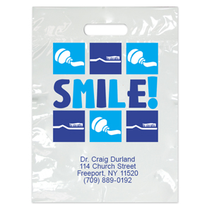 Imprinted Large Smile! Bags