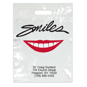 Imprinted Large Smiles Red Lips Bags