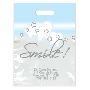 Imprinted Large Stars & Smile! Bags