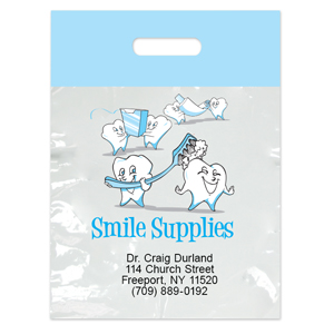 Imprinted Large Tooth Supplies Bags