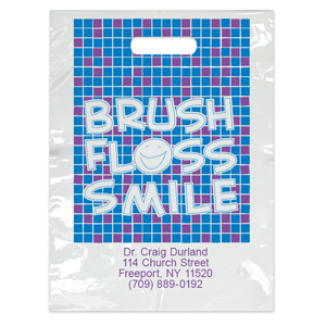 Imprinted Large Brush Tile Bags