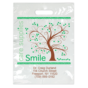 Imprinted Large Tree Smiles Bags